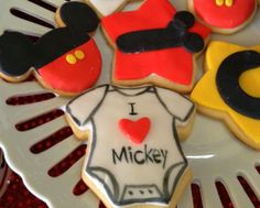 Cookies at a Mickey Mouse Party #mickeymouse #cookies