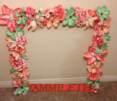 Cuadro para fotos Party Frame, Photo Booth, Floral Wreath, Baby Shower, Wreaths, Selfies, Frames, Home Decor, Diy Wedding Decorations