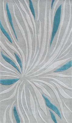 The Rug Market Closeout Tillandsia 44385 Gray and Teal Area Rug | Bold Rugs                                                                                                                                                                                 More