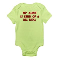 Aunt is a big deal Onesie, so getting this for my new nephew.lol