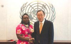 •Mr Ban Ki Moon with our correspondent