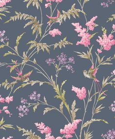 Jasmine Navy wallpaper by Albany