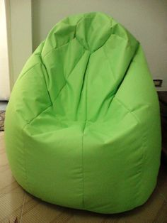 Puff tipo Pera/ Beanbag chair 5.5 kg color verde mazana / apple green
