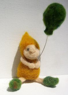 The Balloon Gnome Pencil Topper