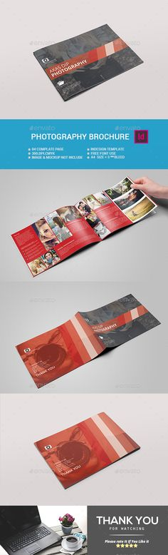 Landscape Photography Brochure Template InDesign INDD. Download here: https://graphicriver.net/item/landscape-photography-brochure/17272093?ref=ksioks