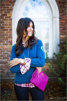 Style Waltz||Fashion Blog #plaid #monogram @marleylilly