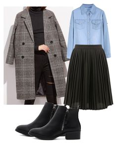 """Midi plated skirt"" by my-kitsch-world on Polyvore featuring moda"
