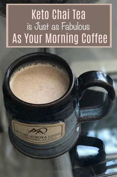 Keto Bulletproof Decaf Chai Tea Recipe So damn good. when you want a cup of coffee but can't have caffeine. Keto Bulletproof Decaf Chai Tea Recipe So damn good. when you want a cup of coffee but can't have caffeine. Chai Tea Recipe, Latte Recipe, Desserts Keto, Keto Snacks, Health Desserts, Low Carb Drinks, Healthy Drinks, Diabetic Drinks, Healthy Foods