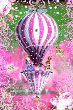 Alice in Wonderland Pink Tea Party in the Sky