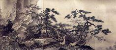Sansui chokan, detail, 1496 Sesshu Toyo