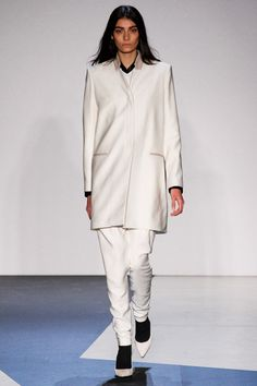 White: Helmut Lang. J.Crew, tibi, BCBG Max Azria, Tommy Hilfiger, The Row and Proenza Schouler did it as well