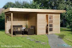 Shed Plans - abri de jardin a toit plat avec auvent terrasse Now ...