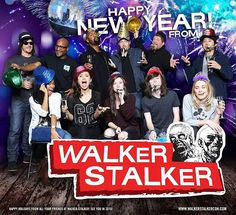 Chandler Riggs and the cast of the walking dead