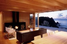 It even has a fireplace! | 23 Surprisingly Gorgeous Homes Made From Shipping Containers
