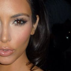 Kim Kardashian #makeup - this seems to be Kim's go-to look - it is very gorgeous on her