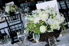 Reception, White, Centerpiece, Wedding, Black, Formal, City