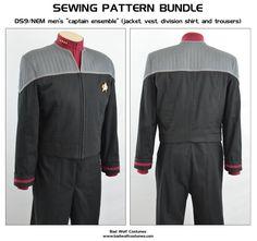 Star Trek DS9/NEM Men's Captain Ensemble: Sewing Pattern Bundle by BadWolfCostumes