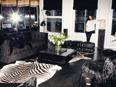 Alexander Wang's swanky living room in TriBeCa. I could get used to living there.