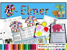 Our Elmer Story Unit based on the book by David McKee has 81 pages of printables: lots of early years literacy CCSS activities and a color bingo game. Also available on our TpT store. Retelling Activities, Book Activities, Classroom Themes, Classroom Activities, Elmer The Elephants, Teaching Colors, Teaching Ideas, Kindergarten, Thematic Units