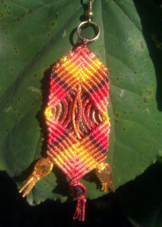 Micro macrame handmade colorful earrings by Euphoricallycreated, $15.00