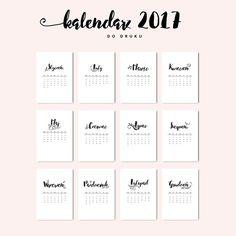 Kalendarz 2017 do druku {do pobrania za darmo - black
