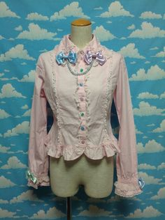 Colorful Necklace Blouse in Pink from Angelic Pretty - Lolita Desu