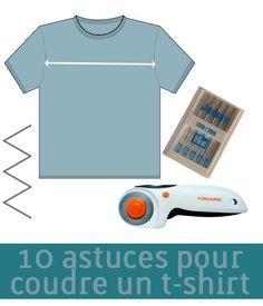 Vous rêvez de coudre des t-shirts sans avoir jamais osé vous lancer ? Il est vrai que coudre du jersey ou un autre tissu tricoté est assez intimidant de prime abord mais il ne faut pas hésitez à se lancer. D'autant plus que vous pourrez trouver du jersey pas trop cher, voire recycler un t-shirt XXL pour vous exercer. Et en lisant ces 10 astuces, vous serez paré(e)s ! 1. Trouvez le BON patron Tous les patrons de t-shirt ne se valent pas ! Certains sont mal coupés et ne correspondent pas à ...