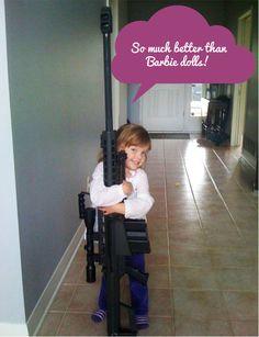 Truth. #girlswholoveguns #girlsandguns #womenshooters #womenwholoveguns Click the picture to learn how to teach firearm safety to your children.