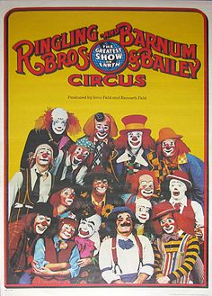 RINGLING BROS. BARNUM & BAILEY MULTIPLE CLOWNS CIRCUS
