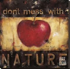 Don't Mess with Nature Stretched Canvas Print by Wani Pasion at Art.com