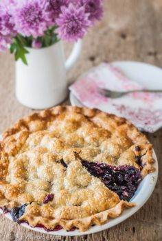 Black Raspberry and Cherry Pie with a Gluten Free Crust. Make it with fresh berries and cherries in the summer and use frozen in deep dark w...