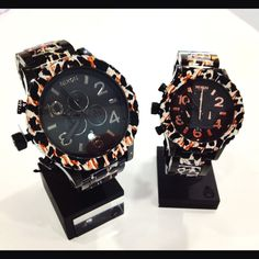 His and hers Nixon Black Leopard! At Tic Time Redondo Beach in the South Bay Galleria!