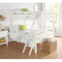 Dorel Living Brady Twin Over Full Bunk Bed. The Brady Twin over Full Bunk Bed is a space saving solution that both parents and children alike will love. White Bunk Beds, Wood Bunk Beds, Bunk Beds With Stairs, Kids Bunk Beds, Loft Beds, Bed Without Mattress, Twin Full Bunk Bed, Full Beds, Apartments Decorating