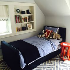 August's new bed! #schumacher #livenupdesign #bungalow5 #jonathanadler #starkcarpets #serenaandlily