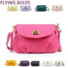 FLYING BIRDS! 2014 new Style best sale Exports mini candy color women shoulder bags messenger bag Women leather Bags LS3282(China (Mainland))