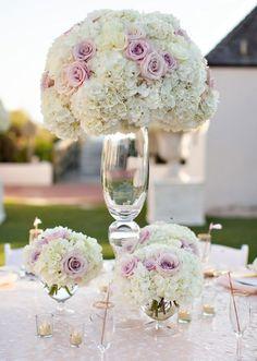 Photographer: Amanda Suanne; Wedding reception centerpiece idea