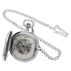 Charles-Hubert, Paris Two-Tone Mechanical Pocket Watch Charles-Hubert, Paris. $96.00. 17 jewel mechanical movement. Skeleton dial with roman numerals. 14k gold-plated two-tone brass 46mm double hunter case with a matching curb chain. Deluxe gift box. Save 34% Off!