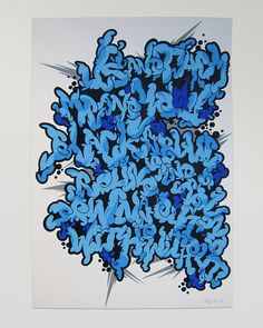 graffiti letter mash up