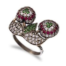 Fashion Zircon Stone Rings, Turkish Silver Princess Rings, Turkish Silver Authentic Set direct from Turkey