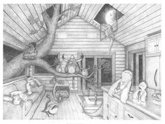 1 point perspective with fantasy theme - love the images!