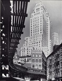 The ITT Building on Broad Street. Financial District. New York City. May 1944. Photo: Andreas Feininger
