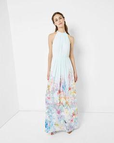 Hanging Gardens maxi dress - Mint   Dresses   Ted Baker FR