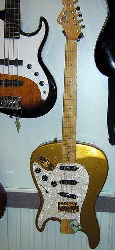 Upside down guitar.