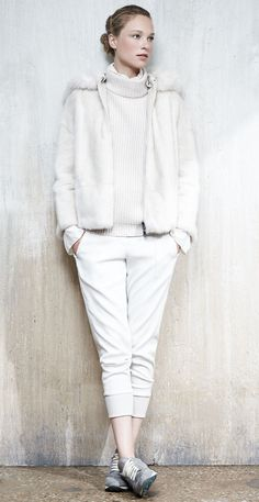 all white in Brunello Cucinelli