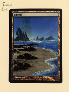 Island - Full Art Land - MTG Alter - Revelen's Light Altered Art Magic Card