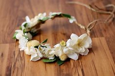 oho woodland wreath Floral circlet Bridal flower crown by LAmei