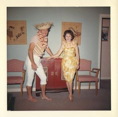 Erma looked ok for the patio party but Clarance's wearing her capri pants let out too much information .