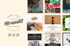 Free for a limited time! The link will show the original price, but it is a free download until June 12th.   Brandit Social Media Pack by Cosmo Studio on @creativemarket.  Beautifully crafted multipurpose social media banners pack for lifestyle businesses, bloggers and creatives. Social media banners are optimized for Instagram, Facebook and Pinterest. Ideal for your website, blog, social media posts.  Brandit Social Media Pack Features:  THESE ARE *.PSD FILES IT CAN BE EDITED WITH PHOTOSHOP…