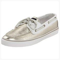 Sperry Top-Sider Women's Bahama Metallic Shoe,Platinum/White,12 M US (*Partner Link)