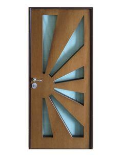 Porta blindata con vetro blindato antiproiettile classe di resistenza RC4 Wooden Main Door Design, Double Door Design, Modern Front Door, Exterior Doors, Double Doors, Wood Doors, Decoration, Glass Door, Front Porch